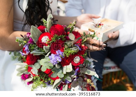 Decoration for wedding with Engagement Rings
