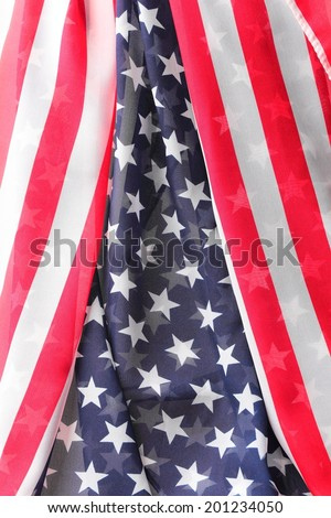 Decoration in american flag style as background - stock photo
