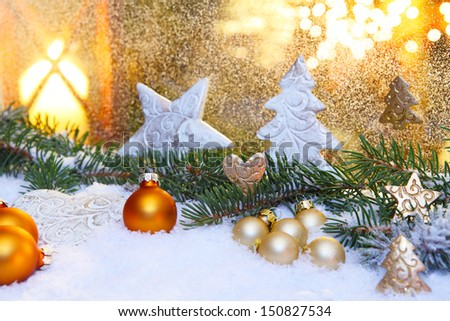 Decoration in the christmas time - stock photo