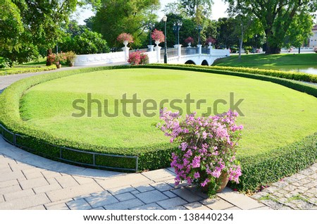 decoration in the park in Thailand - stock photo