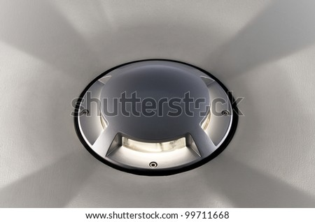 Decoration lamp for wall or floor - stock photo