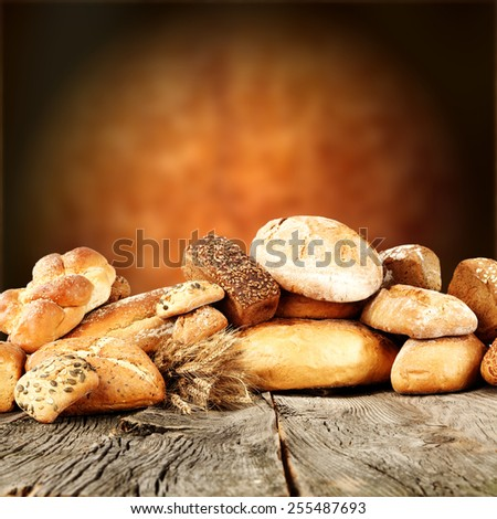 decoration of bread and wall