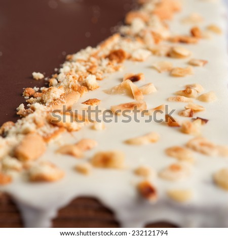 Decoration of  cake , macro shot with shallow deep of field - stock photo