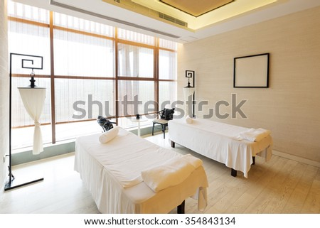 decoration of modern massage room