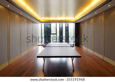 decoration of modern table tennis room