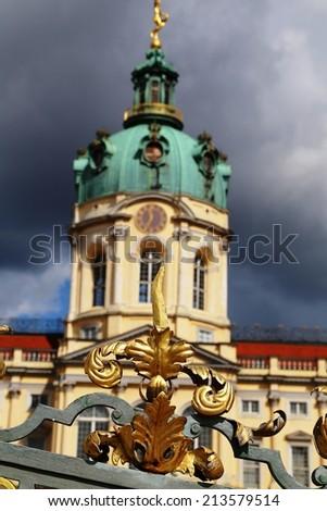Decoration of the baroque gate at Schloss Charlottenburg - stock photo