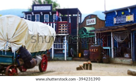 decoration of the old Texas town - stock photo