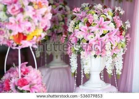 Decoration Wedding Ceremony Flowers Greek Vase Stock Photo Royalty