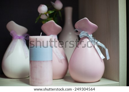 decoration on the table in living room - stock photo