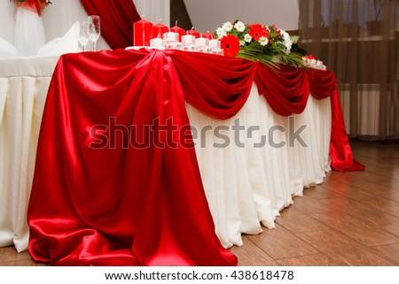 Decoration wedding table - stock photo