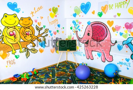 Decorations for children's rooms - stock photo
