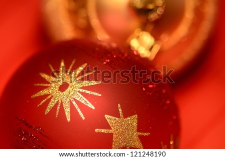 Decorations for the Christmas tree - stock photo
