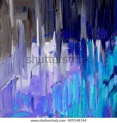 decorative abstract oil painting on canvas for interior illustration