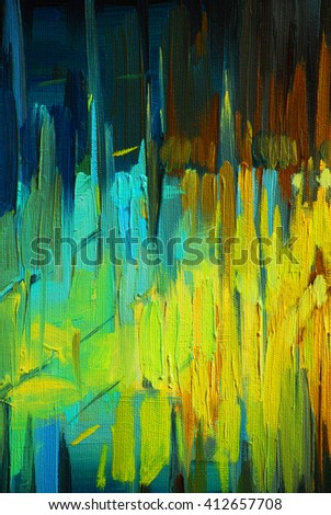 decorative abstract oil painting on canvas, illustration, background - stock photo