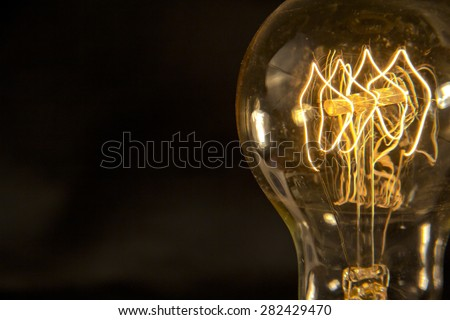 Decorative antique edison style filament light bulb - stock photo