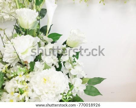 Decorative artificial white flowers vase stock photo royalty free decorative artificial white flowers in vase mightylinksfo