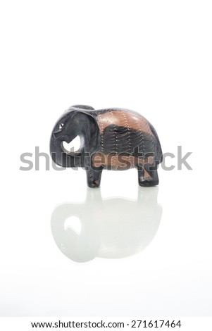 Decorative Asian Elephant on White Background  - stock photo