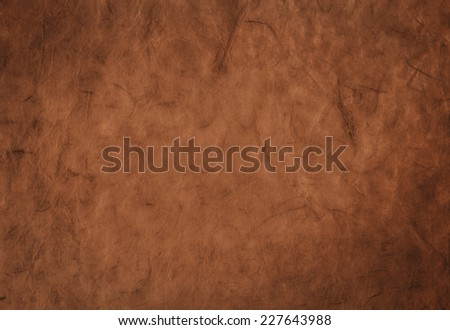 Decorative background from organic handmade paper with fibers texture - stock photo