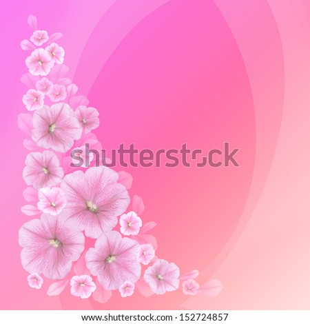 Decorative background with flowers in gentle tones.