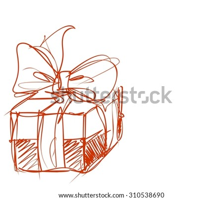Decorative background with  gift  - stock photo