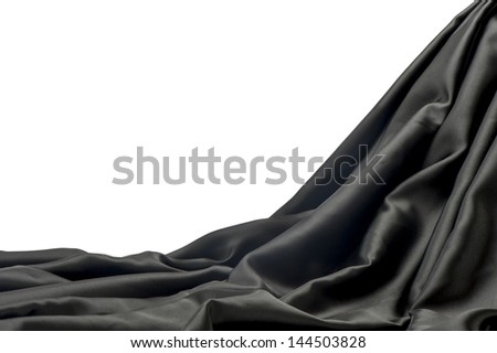 decorative background with two colors of fabrics - stock photo