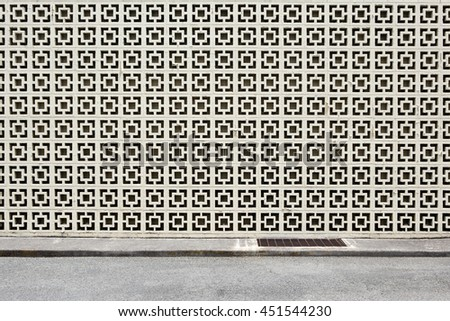 decorative block wall