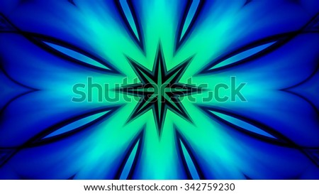 Decorative blue green glassy background
