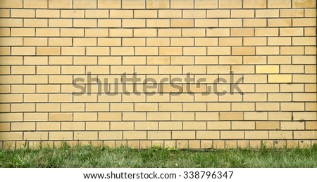 Decorative brick wall