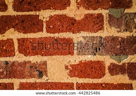 Decorative Brick Wall Homesshops Building Interior Stock Photo ...