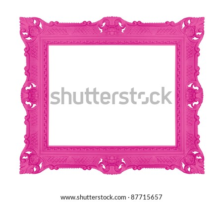 Decorative contemporary picture frame, similar available in my portfolio - stock photo