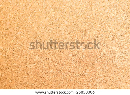 Decorative cork as a background