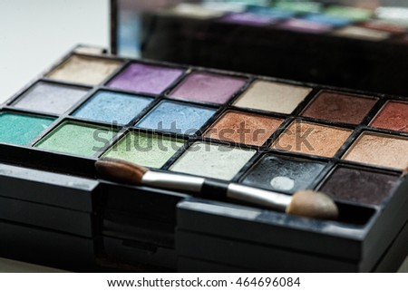 Decorative Cosmetics, Eyeshadow Palette Closeup