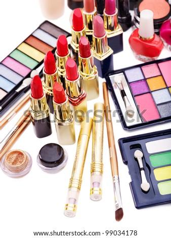 Decorative cosmetics. Isolated. - stock photo