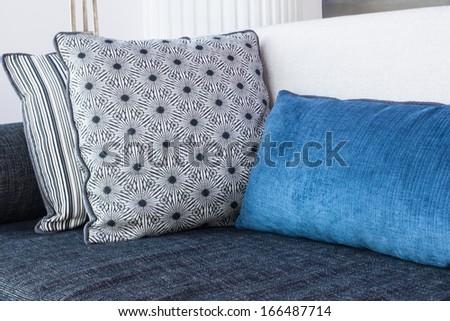 Decorative Cushion on Sofa - stock photo