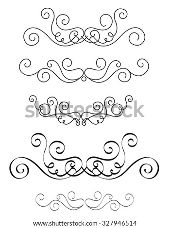 Decorative design elements for Wedding invitation/ anniversary backgrounds can be use to decorate wedding , anniversary, valentines day, mother's day party invitation / cards. - stock photo