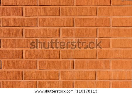 Decorative design facade brick wall background