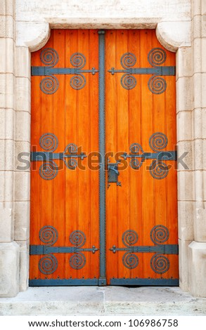 Decorative door - stock photo