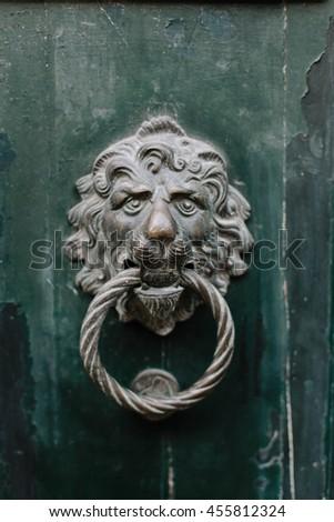 Decorative door knob in venice, selective focus - stock photo