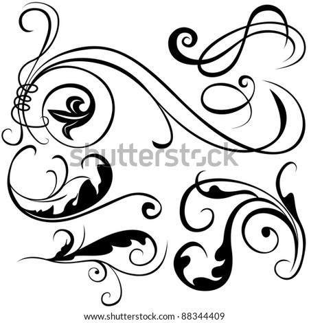 Decorative Elements - black illustration