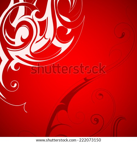 Decorative floral ornament backdrop with copy space - stock photo