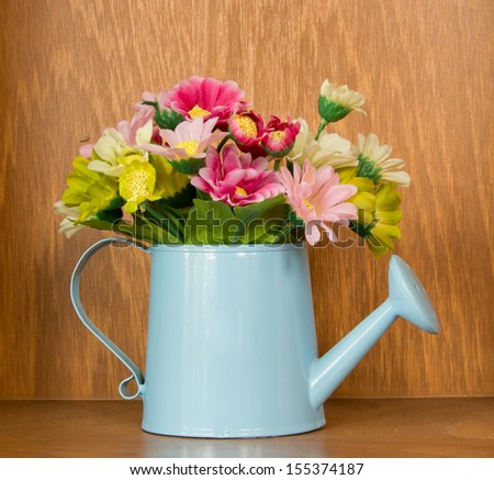 decorative flowers with wood background