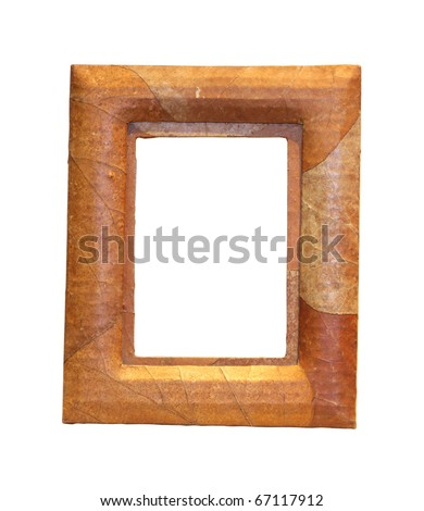 Decorative frame isolated with clipping path included