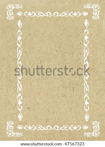 decorative frame on grunge background - stock photo
