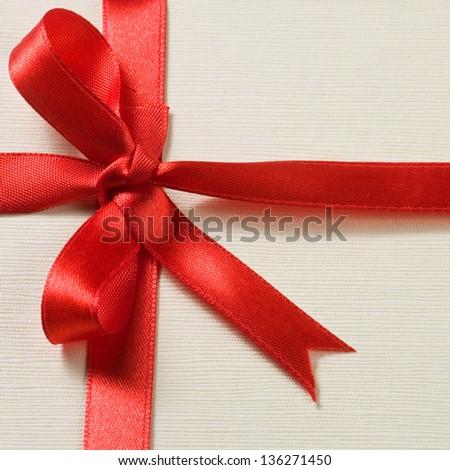 Decorative gift box with ribbon - stock photo