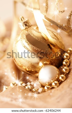 decorative gold christmas ornaments