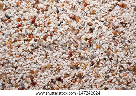 Decorative gravel floor or wall pattern for use as background texture in close-up