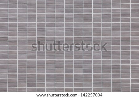 Decorative gray brick wall texture in horizontal view