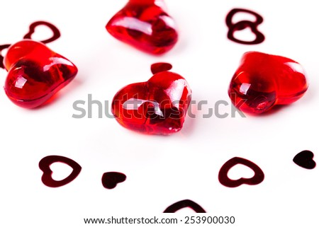 decorative hearts - stock photo
