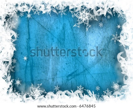 Decorative Illustration, winter background with snowflakes. Graphic representation for seasonal celebrations like Christmas, or winter holidays.