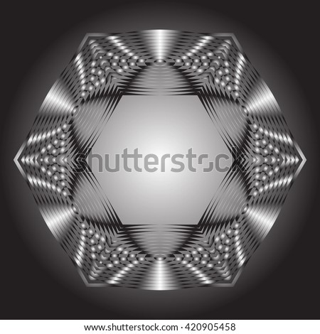 Decorative items to decorate your work. Graphic elements for design. Geometric fashion pattern - stock photo
